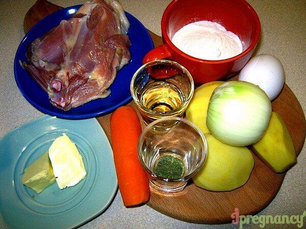 заготовка продуктов для супа