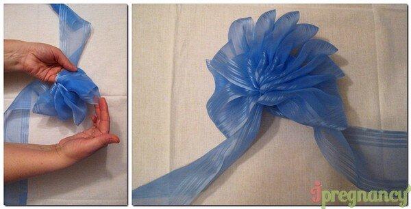 завязываем капроновый цветок 5цветок 5
