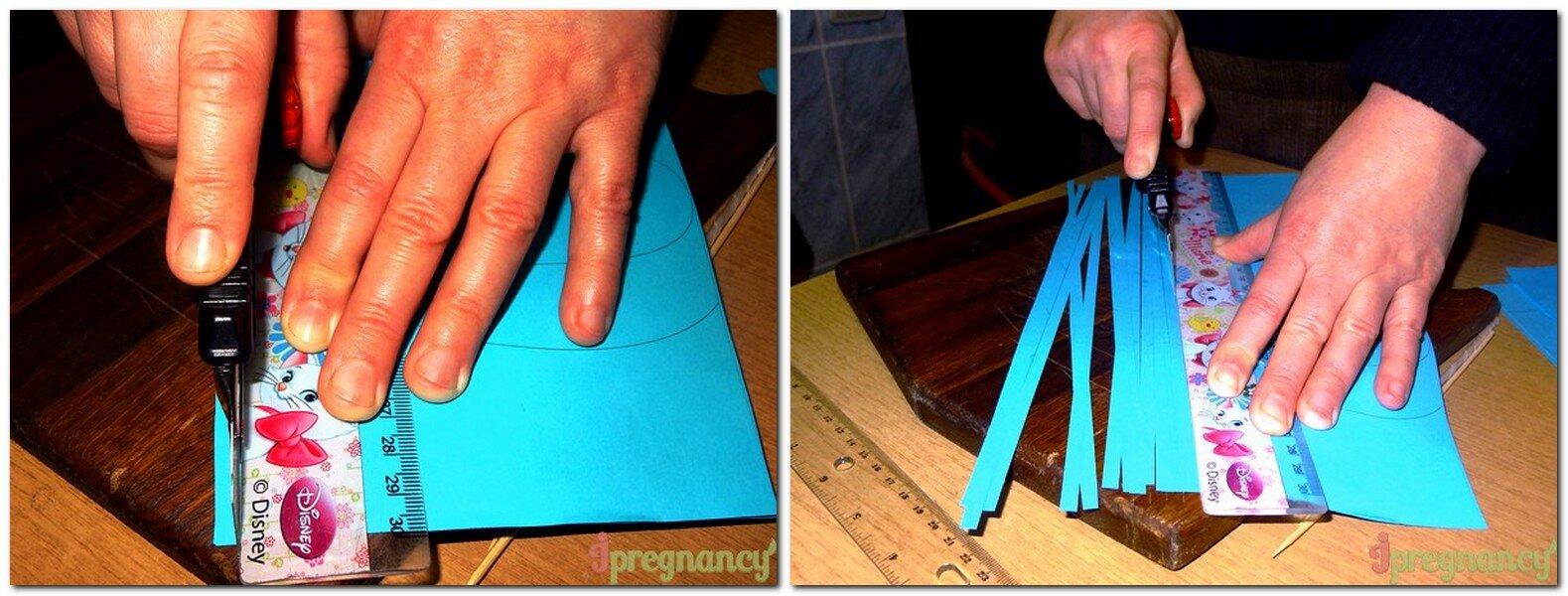 заготовка бумажных полосок