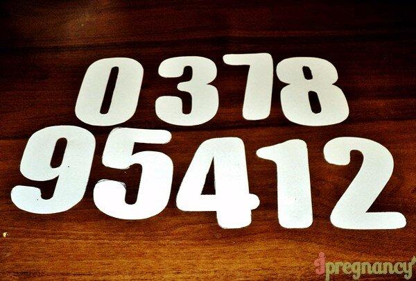 мягкие цифры 3