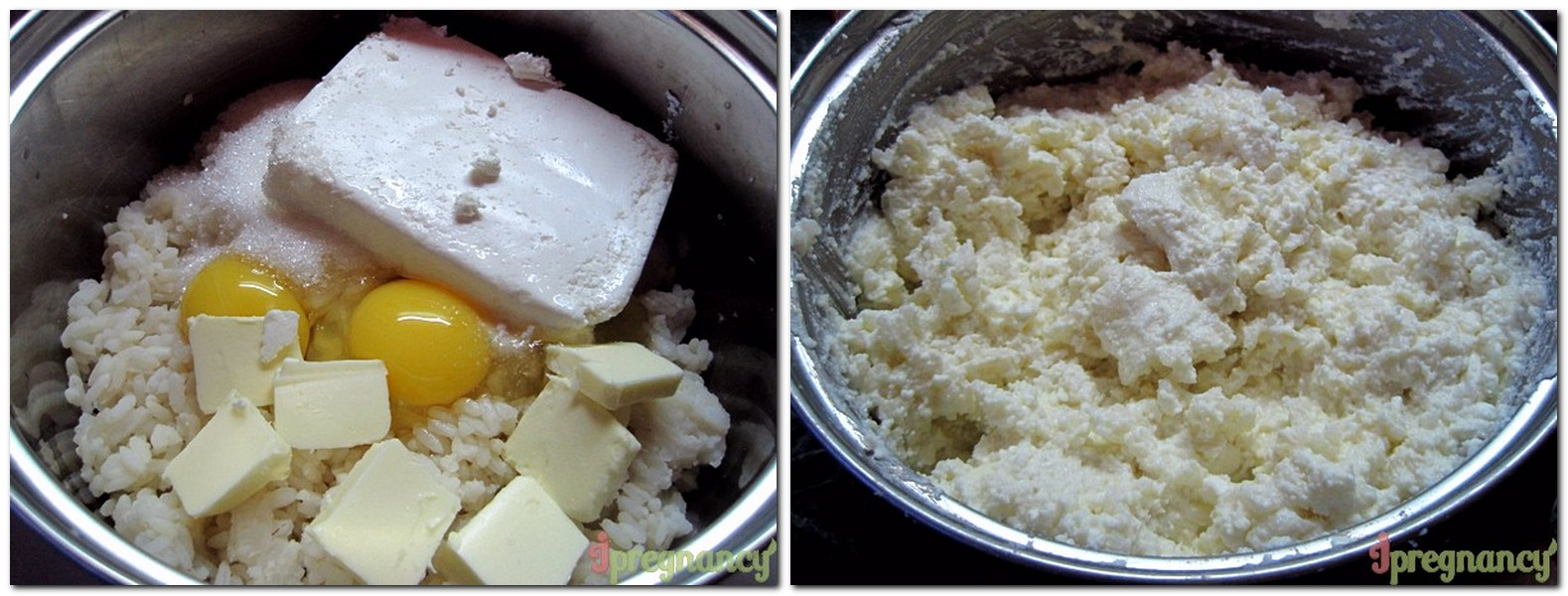 рисово-творожное тесто