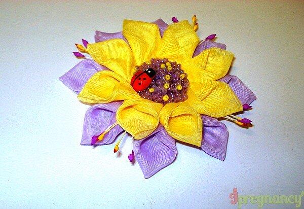 цветок из ткани 2