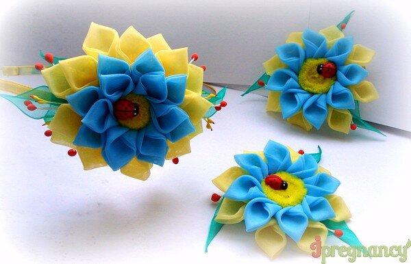 цветок из ткани 16