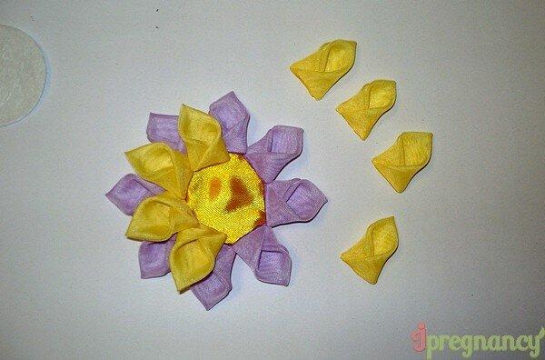 цветок из ткани 13