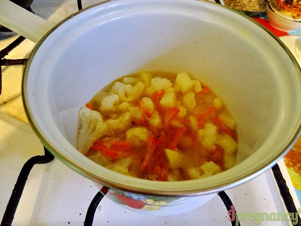 тушим суп